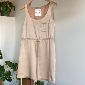 Cream silky dress from Urban Outfitters